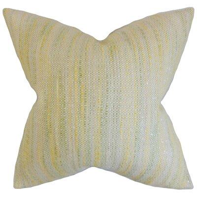 Lakota Stripes Throw Pillow Cover Color: Lemon