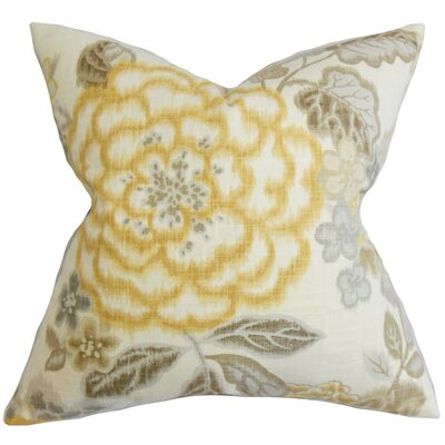 Islip Floral Cotton Throw Pillow Cover