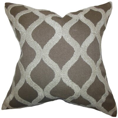 Kidd Geometric Throw Pillow Cover Size: 18 x 18