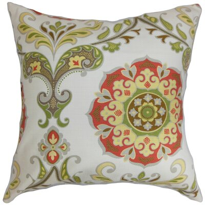 Orana Floral Cotton Throw Pillow Cover Color: Rose Green