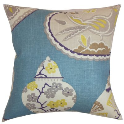 Xeniva Floral Cotton Throw Pillow Size: 18 x 18