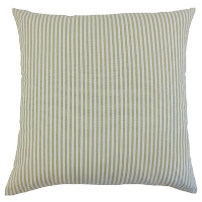 Ira Stripes Throw Pillow Cover Color: Sage