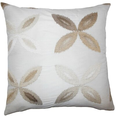 Syshe Ikat Throw Pillow Cover Color: Natural