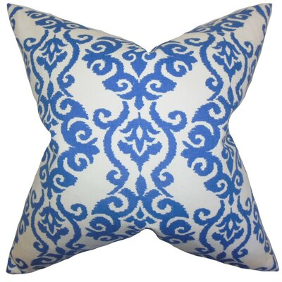 Rafe Damask Cotton Throw Pillow Size: 24 x 24