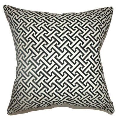 Quentin Geometric Cotton Throw Pillow Cover Color: Black