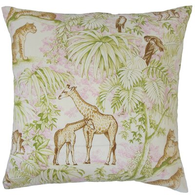 Ender Graphic Cotton Throw Pillow Cover Color: Pink