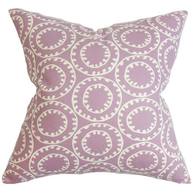 Yowanda Geometric Cotton Throw Pillow Cover Color: Purple