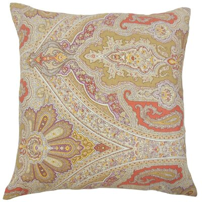 Darian Paisley Linen Throw Pillow Size: 18 x 18