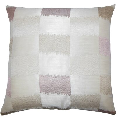 Ruchel Geometric Throw Pillow Cover Color: Natural