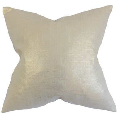 Florin Solid Throw Pillow Cover Color: Antique Gold