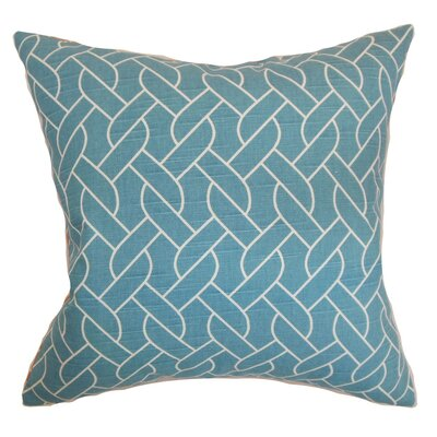 Neptune Geometric Throw Pillow Cover Size: 20 x 20, Color: Aquamarine