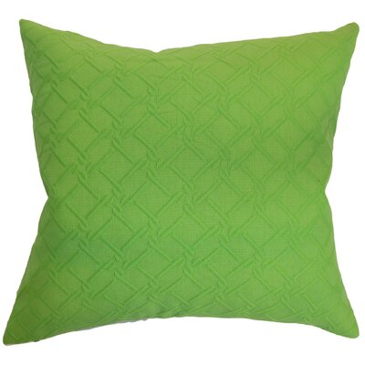 Rafai Solid Cotton Throw Pillow Cover Color: Green