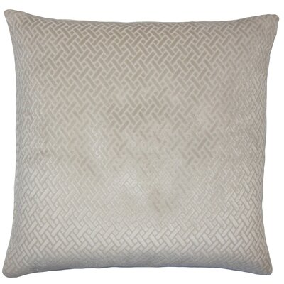 Rizzo Solid Throw Pillow Cover Color: Natural