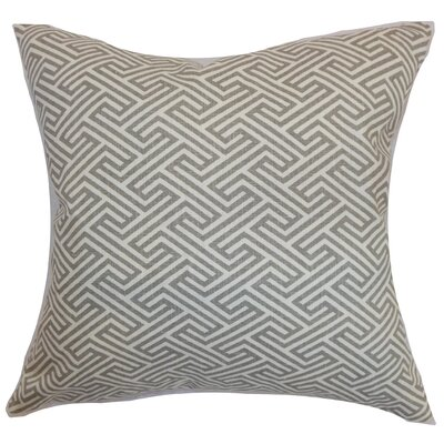 Graz Geometric Cotton Throw Pillow Cover Color: Dove