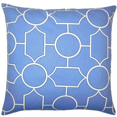 Samoset Geometric Cotton Throw Pillow Cover Color: Chambray