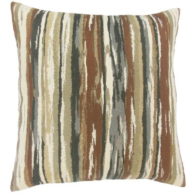 Uchenna Stripes Throw Pillow Cover Color: Earth