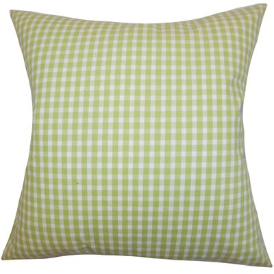 Hartley Plaid Cotton Throw Pillow Size: 22 x 22
