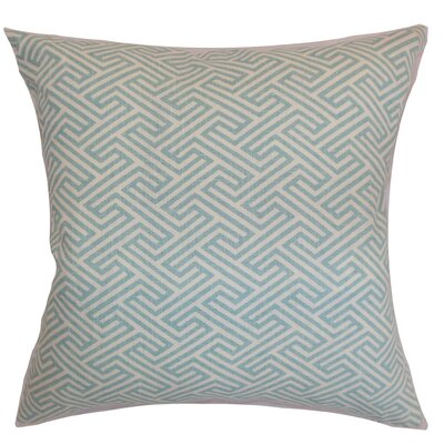 Graz Geometric Cotton Throw Pillow Cover Color: Sky Blue