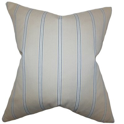 Drusilla Stripes Throw Pillow Cover Size: 18 x 18