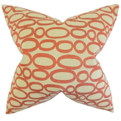 Penshire Geometric Throw Pillow Cover Color: Russett