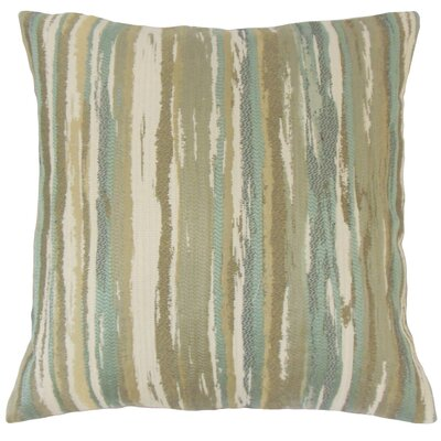 Uchenna Stripes Throw Pillow Cover Color: Sage