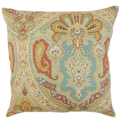 Kenia Damask Linen Throw Pillow Cover Color: Turquoise