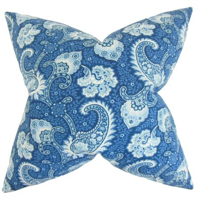 Wylda Paisley Cotton Throw Pillow Cover Color: Ocean
