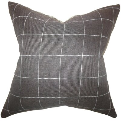 Ivo Plaid Throw Pillow Cover Size: 18 x 18