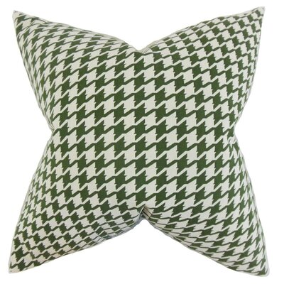 Presley Houndstooth Throw Pillow Cover Color: Pine