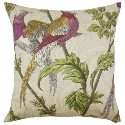 Laoise Graphic Cotton Throw Pillow Size: 18 x 18