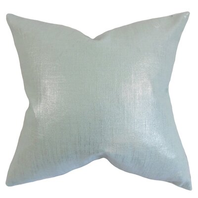 Florin Solid Throw Pillow Cover Color: Baby Blue