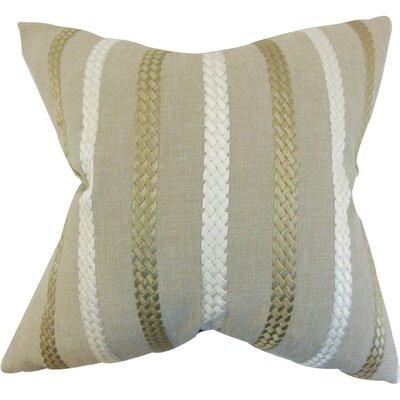 Melanie Stripe Throw Pillow Cover Color: Burlap