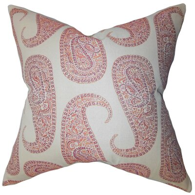 Amahl Paisley Throw Pillow Cover Color: Orange
