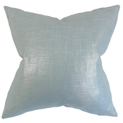 Florin Solid Throw Pillow Cover Color: Light Blue