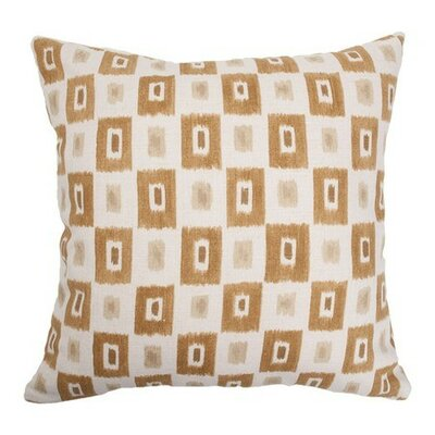Dagwood Geometric Bedding Sham Size: Euro, Color: Dessert