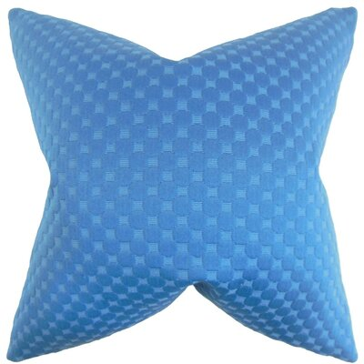 Kasen Solid Throw Pillow Cover Color: Azure