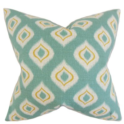 Dai Ikat Throw Pillow Cover Color: Aqua