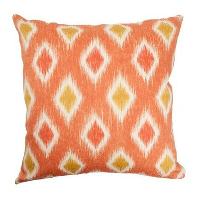 Faela Geometric Bedding Sham Size: King, Color: Melon