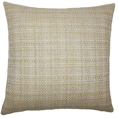 Xorn Plaid Throw Pillow Cover Color: Wheat