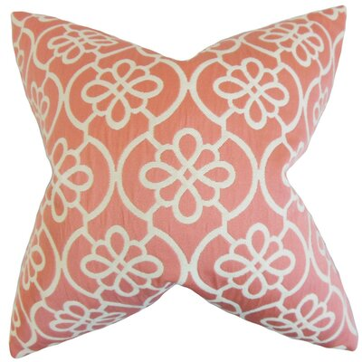 Chaplain Geometric Throw Pillow Cover Color: Coral