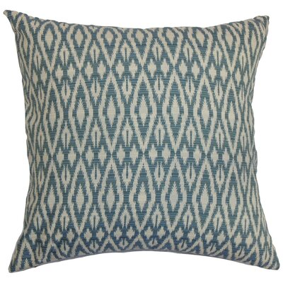 Delmer Ikat Cotton Throw Pillow Cover