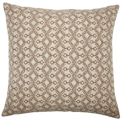 Gzifa Ikat Throw Pillow Cover Color: Brown