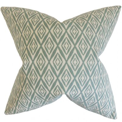 Najila Geometric Throw Pillow Cover Color: Aqua