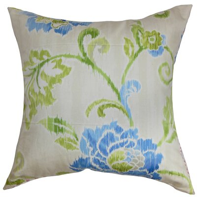 Jarrah Floral Cotton Throw Pillow Cover