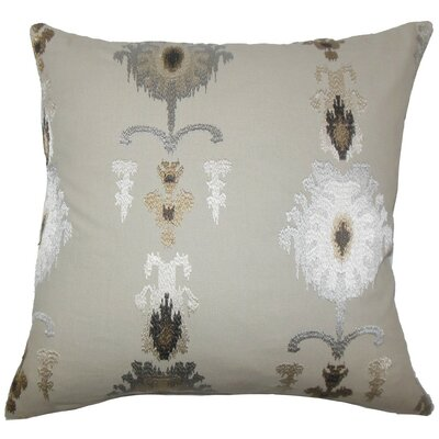 Calico Ikat Throw Pillow Cover Color: Mushroom