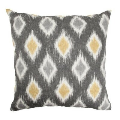 Faela Geometric Cotton Throw Pillow Cover Color: Graphite