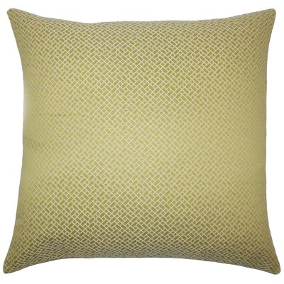 Pertessa Geometric Throw Pillow Cover Color: Peridot