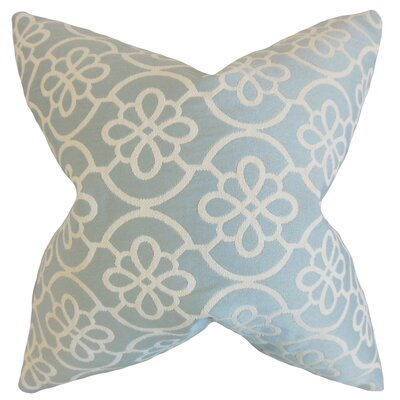 Indre Geometric Throw Pillow Cover Color: Sea Foam