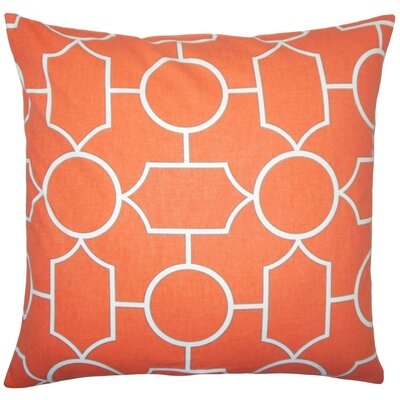 Samoset Geometric Cotton Throw Pillow Cover Color: Papaya