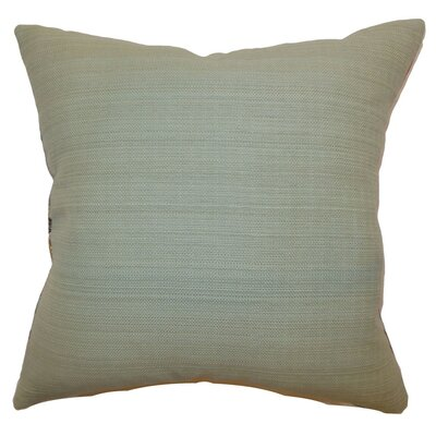 Calandre Solid Cotton Throw Pillow Cover